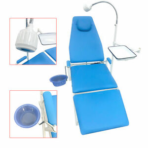 Portable Folding Dental Mobile Chair With Cold Light Tray Equipment Gu p109a