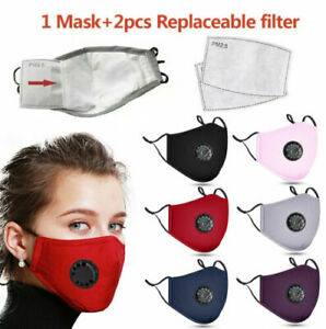 Adult Reusable Cotton Pm2 5 Respirator Anti fog Cover 2 Carbon Filter Pads