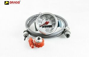 Vespa Small 120 Kmh Speedometer Kit With Cable Worm For Vespa V50 50n 90