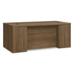 Foundation Breakfront Desk Shell Bow Front 72w X 42d X 29h Pinnacle