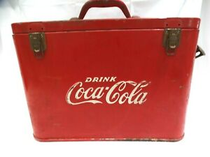 Vintage Antique 1940's COCA-COLA AIRLINE COOLER Case Coke w/Bottle Opener