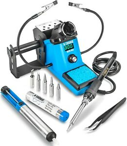 Wep 927 ii st Digital Led Soldering Iron Station W 5 Extra Tips Esd Safe