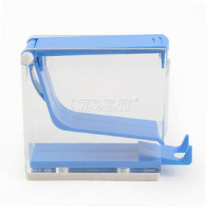 4 Boxes Dentist Cotton Roll Dispenser Holder Press Type Blue Dental Instrument