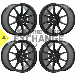 19x10 5 19x11 Ford Mustang Gt350 Shelby Black Wheels Rim Factory Oem 10053 10054