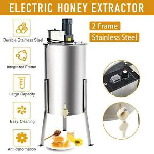 2 4 Frame Electric Honey Extractor Centrifuge Equipment Drum W Adjustable Stand