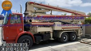 Schwing Concrete Pump 28m Placing Boom