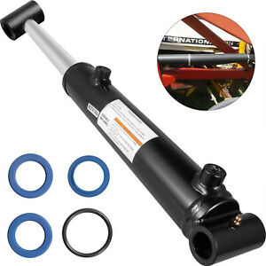 Hydraulic Cylinder Welded Double Acting 2 Bore 8 Stroke Cross Tube 2x8 Sae6
