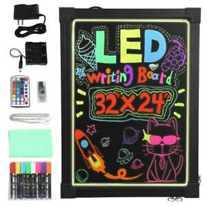 Led Writing Board Illuminated Led Neon Sign Message Menu Writing Board W Remote