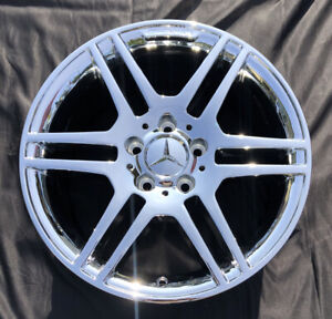 4 New Chrome 17 Mercedes Benz C350 C300 C250 Amg Factory Wheels Rims 65529