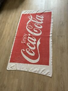 Vintage Coca Cola 1970's Beach Towel