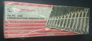 Napa Evercraft 14 Pc Sae Huge Combination Wrench Set 775 2150