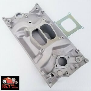 Small Block Chevy Vortec Satin Aluminum Intake Manifold Dual Plane 350 400