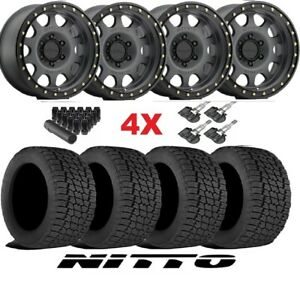 17 Method Titanium Wheels Rims Tires 285 70 17 Nitto G2 All Terrain