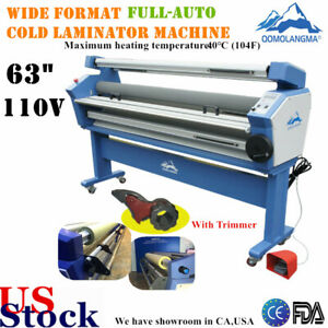 Us 63 Full auto Large Format Cold Roll Laminator Machine Heat Assisted Trimmer