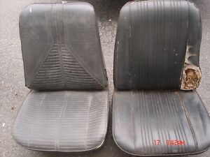 1967 Only Chevelle Gto Cutlass Skylark Gs 442 Black Bucket Seats