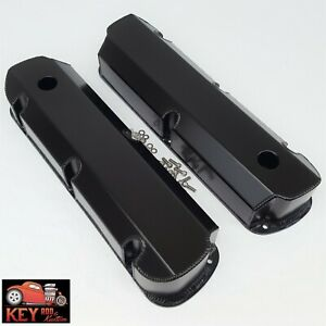 Small Block Ford Black Fabricated Aluminum Valve Covers Sbf 289 302 351w 5 0l