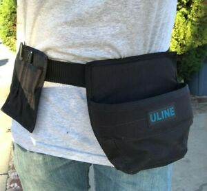 Uline Warehouse Adjustable Work Belt Model H 463 Tape Gun Holster And Knife pen