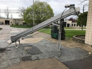 192 Incline Conveyor Stainless Steel With Cleated Belt