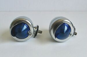 Vintage Car Truck Side Reflector Lights Blue Hot Rat Rod Retro Modern Auto Light