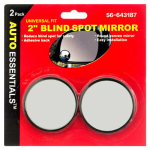 Safety Mirror Blind Spot 2 2pc Set Convex Wide Angle Car Truck Boat