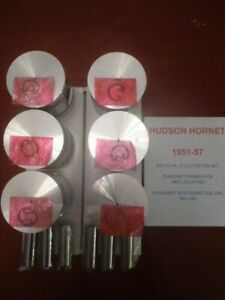 1951 57 Hudson Hornet 308 Cu Inch 6 Set Of Pistons With Pins And Clips