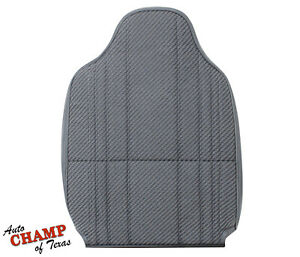 1995 1996 Dodge Ram Work Truck Base driver Side Lean Back Cloth Seat Cover Gray