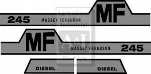 New Massey Ferguson Hood Decal Set Mf245 W hump