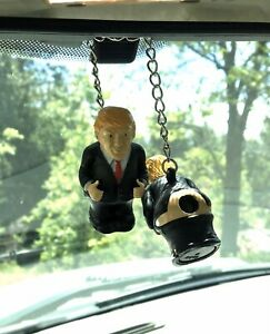 Donald J Trump Mirror Hanger New Product Car Or Truck Redneck Rear Pooping