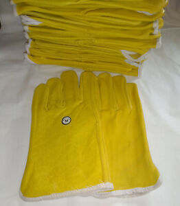 Lot Of 12 Pairs Of Leather Work Gloves Size Medium By Boss
