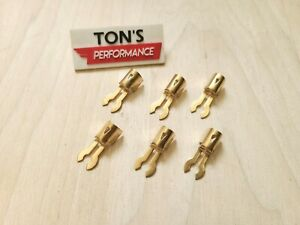 6 Fork Brass Spark Plug Wire Ends Clips Crimp Terminals Maytag Briggs Hit Miss