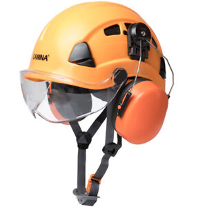 Protective Helmet With Anti noise Earcup And Uv resistant Eye Mask Multi Purpose