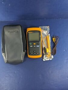 Fluke 51 Ii Thermocouple Thermometer Screen Protector Excellent Case