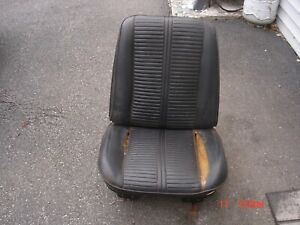 1966 Chevelle Ss Gto Cutlass Skylark Gs 442 Rh Black Bucket Seat
