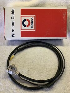 Nos Delco Battery Ground Cable 4f48 Gm 8909815 48 Nova Chevelle Olds