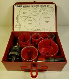 Ridgid Electricians Hole Saw Kit No 1249 In Metal Case