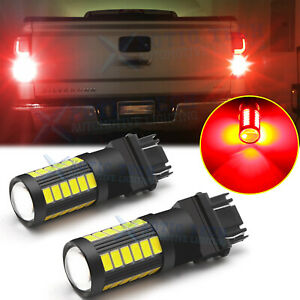 Led Brake Stop Tail Light Bulbs 3157 3057 Red For Chevy Silverado 1500 1999 2013