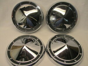 Set Of 4 Ford Galaxie 500 Fairlane Dog Dish Poverty Hub Caps 10 5 60 61 1961