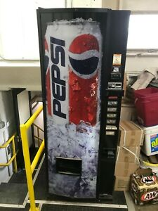 Pepsi Soda Machine Dispenser Fully Functional Automatic Bill Sorter