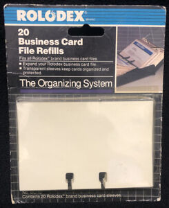 Rolodex Brand 20 Business Card File Refills new Old Stock