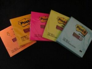 Post it Note Pads 3x3 Super Sticky Assorted Bright Colors Pads choose Color