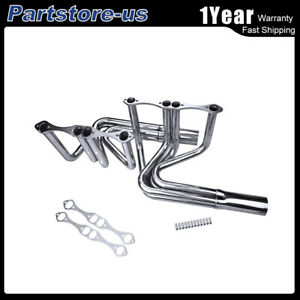 For Chevy Small Block 265 400 T Bucket Roadster Hoodless Exhaust Manifold Header