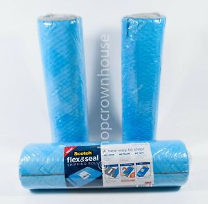 3pks Scotch 3m Flex Seal Shipping Roll No Boxes Filler Or Tape 15 In X 10 Ft