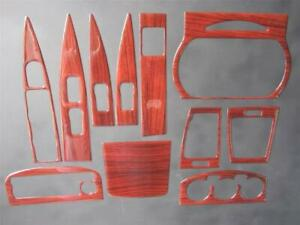 2002 2003 2004 Nissan Altima Sedan Dash Trim Kit Overlay Rose Wood Look 11 Piece