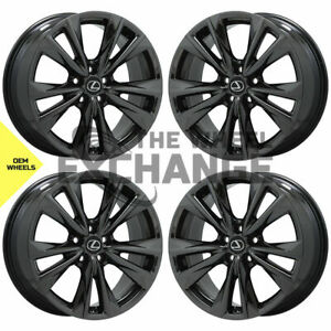 19 Lexus Es350 F Sport Black Chrome Wheels Rims Factory Oem 2019 2020 Set 74377