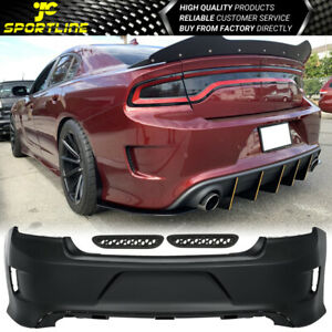 Fits 15 20 Dodge Charger Rear Bumper Cover Conversion Pp Polypropylene