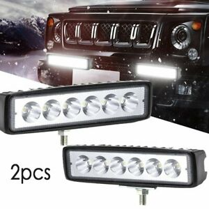 2x 7inch 400w Cree Led Work Light Bar Spot Offroad Atv Fog Truck Lamp 4wd 12v 6