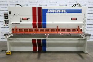 Pacific Fs 200 10 Ii 1 4 X 10 Hydraulic Shear W Front Operated Back Gauge
