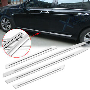 For Honda Accord 2008 2012 Stainless Door Side Guard Body Protector Stripe Trims