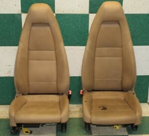 Dmg 10 16 Panamera Tan Leather Power Heated Cooled Bucket Seat Pair Factory Oem
