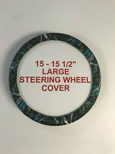 Camouflage Steering Wheel Covers Moon Shine Serenity Large 15 15 5